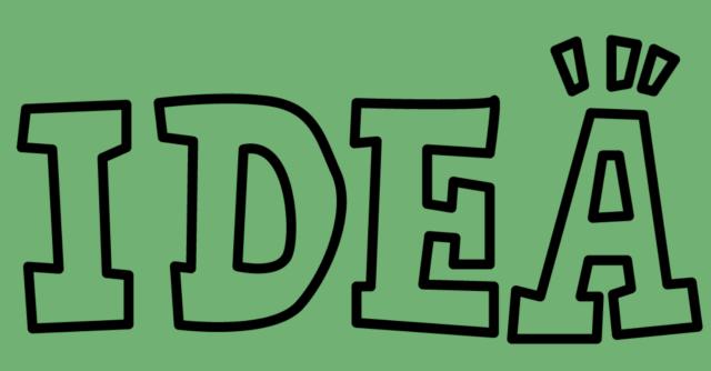 アイデアの文字